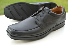 Clarks Mens Active Air Shoes SCOPIC WAY Black Leather UK 8.5 / 42.5 Wide Fit