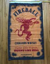 New listing Fireball Cinnamon Whisky 3'x 5' Flag - Banner Man Cave WhiskeyFlags Store