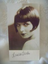 Louise Brooks - Rare -  Autographe original sur carte - 9x16 cm env.