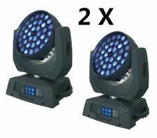 2pcs 36*18W RGBWA UV 6in1 LED Zoom Wash Moving Head Wash stage Light