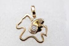 Pegasus 18K Rose Gold Designer Pendant With Bezel Set Diamond Cute Open Style