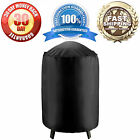 """Waterproof Round Electric Smoker Grill Cover - 19""""Diameter x 39""""H - Black"""