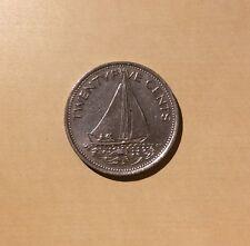 """Bahamas 25 Cents """"You Grade It"""" 1977 - Sailing Ship"""