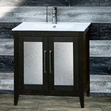 "30"" Bathroom Black Vanity 30-inch Cabinet Ceramic top Intergrated Sink A30B-Ct"