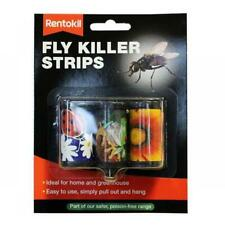 3x Rentokil Fly Killer Strips Home/Greenhouse Insecticide-Free Easy to Pull/Hang