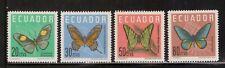 Ecuador,Scott#680-683,Butterflies,MNH