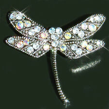 Dragonfly made with Swarovski Crystal Bridal Valentine Mother Wedding Pin Brooch