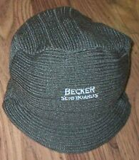 Becker Surfboards Billed Beanie hat adult 1 sz small Olive Green Embroidery NEW