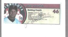 Minnesota Twins JOE VAVRA autographed 3x5 Photo Card
