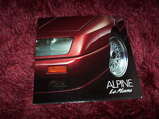 Catalogue Portfolio / Brochure ALPINE Le Mans 1990 //