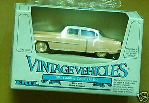1/43-1952 Cadillac Coupe Deville-Pink & White-Ertl-1986