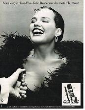 PUBLICITE ADVERTISING 014   1977   GUY LAROCHE  parfum EAU FOLLE