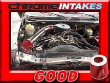 RED 97-03 DODGE DAKOTA/DURANGO 3.9L V6/5.2 5.2L/5.9 5.9L V8 COLD AIR INTAKE 2F