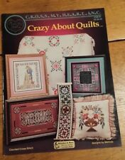 CRAZY ABOUT QUILTS SAMPLER CROSS STITCH PATTERN FREE SHIPPING