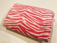 POTTERY BARN TEEN Pink Zebra Full Flat Sheet