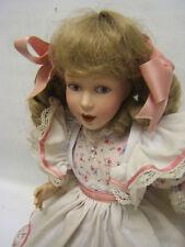 """Franklin Mint Heirloom Doll """"Little Miss Muffet"""" 15"""" tall Guc"""