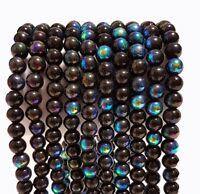 80 Kristallschliffperlen 4mm Galvanisierte Fire-Polished Schwarz Perlen BEST R54