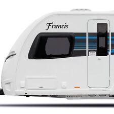 Nome Personalizzato Camper Caravan Barca Laptop Adesivo in Vinile Decalcomania Grafica