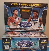 2020-21 Panini Certified Basketball Factory Sealed Hobby Pack - 5 cards!