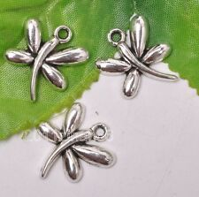 12pcs Tibetan silver charm dragonfly beads necklace pendant 22mm B3151