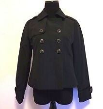 Banana Republic Rain Coat Jacket Trench Size XS Cropped Black High Fashion Style