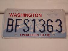 Washington BFS1363 American USA License/Number Plate