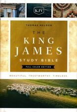 KJV Study Bible Full-Color Edition, Burgundy Bonded Leather, King James Version