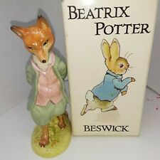 Beswick England Beatrix Potter  F Warne Foxy Whiskered Gentleman Figurine NOS