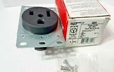 Pass & Seymour 3804 Straight Blade Receptacle, Flush, 2P 3-Wire 50A 250V