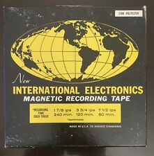 International Electronics MAGNETIC RECORDING TAPE REEL-TO-REEL 240min