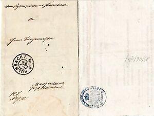 Bayern 1906, Amtsbrief v. K2 KULMBACH n. Mangersreuth m. rs. Siegelstempel