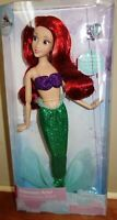 "Disney Store Princess Ariel as mermaid classic doll with ring 11 1/2"" tall"