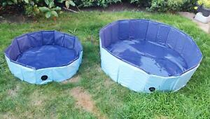Doggy Paddling Pool Foldable Non-Inflatable Sturdy Scratch-Proof Quick Setup
