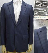 Brioni Blazer Sport Coat Size 38 R Peak Lapel Blue Striped