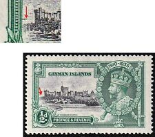 CAYMAN ISLANDS GV 1935 SILVER JUBILEE 1/2d SG 108i DASH BY TURRET VARIETY MINT