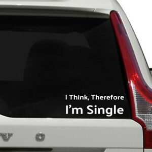 Funny Think Single Joke Car Sticker JDM Vinyl Decal Aussie Seller