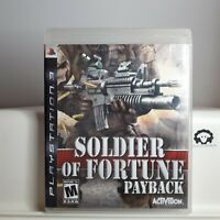 Soldier of Fortune Payback  ( Playstation 3 PS3 ) TESTED
