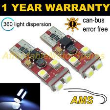 2x W5W T10 501 Errore Canbus libero BIANCO 6 SMD LED Luce Laterale Lampadine Bright sl104604