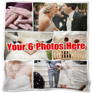 Custom Photos Collage Blanket Pictures Personalized Throw Birthday Wedding Gifts