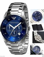 NEW Men's Emporio Armani Blue Chronograph Designer Watch- AR5860 RRP £299.