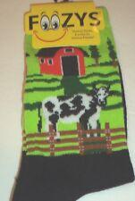 "Foozys ""Cow"" Socks Ladies Sock Size 9-11"