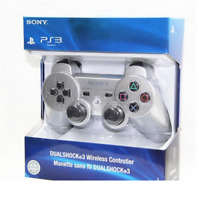 Silver PS3 PlayStation DualShock 3 Wireless SixAxis Controller GamePad Free