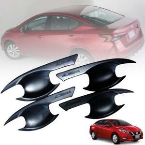 Door Handle Bowl Cover Matte Black For Nissan Almera Versa N18 Sedan 2020 2021