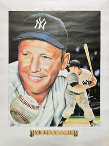 Yankees Mickey Mantle Signed 18x24 LE #10/300 Jodauga Lithograph PSA #A11527