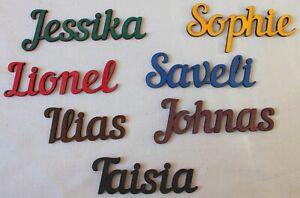 Name Schriftzug Wunschtext Deko Individuell personalisiert Holzbuchstaben