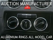 VW Caddy 03-10 Aluminium Ringe Für Lüftungsregler / Heizungsregler X3