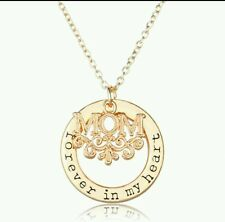 mum Mom Necklace Forever in My Heart Necklace  rose gold look 715)