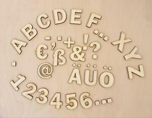 Holz-Buchstaben / Zahlen / Zeichen 2-12 cm IN IHRER WUNSCHGRÖße Laserschnitt DIY