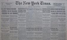 5-1932 May 15 PROHIBITION VOTE ALL DAY BEER PARADE LINDBERGH HUNT GANG AT SEA