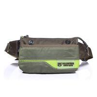 Men Waterproof Oxford Fanny Pack Hip Bum Loop Sport Hiking Waist Belt Chest Bag